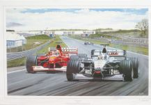 DAVID COULTHARD McLaren Mercedes 2000 BRITISH GP by Andrew Kitson